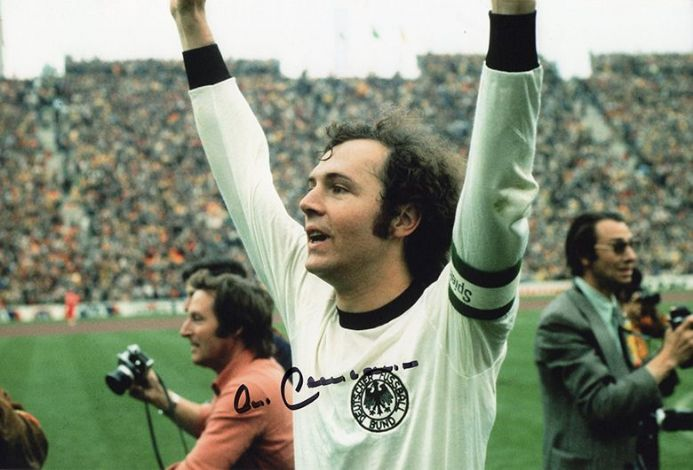 Franz Beckenbauer, West Germany, signed 12x8 inch photo.